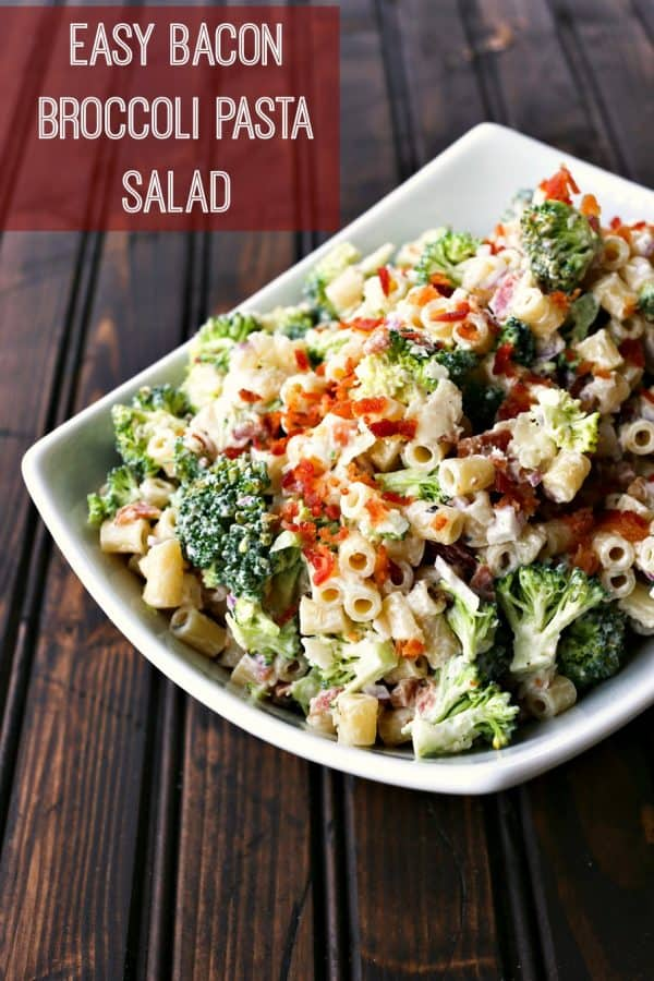 Easy Bacon Broccoli Salad with cheddar