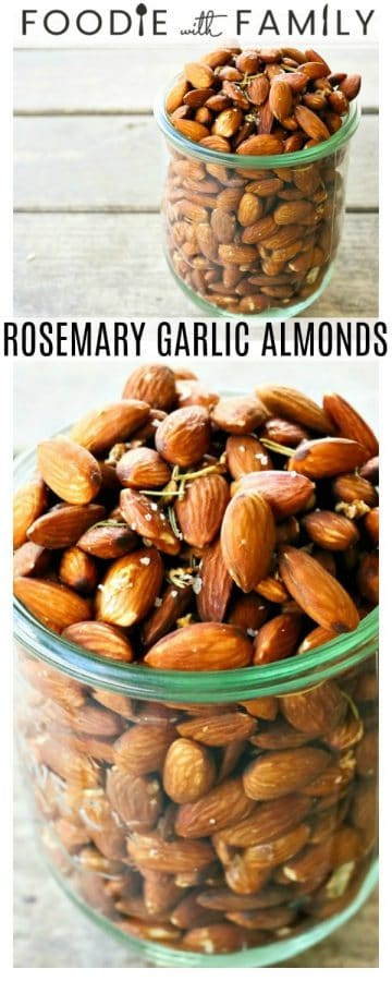 These fragrant and toasty rosemary garlic almonds slow-roast in an ultra low oven overnight (so as not to destroy all those good fats that almonds contain) while you sleep. When you wake, you are in possession of one ultimately sustaining and habit forming snack. Make yourself nuts today! In a good way!