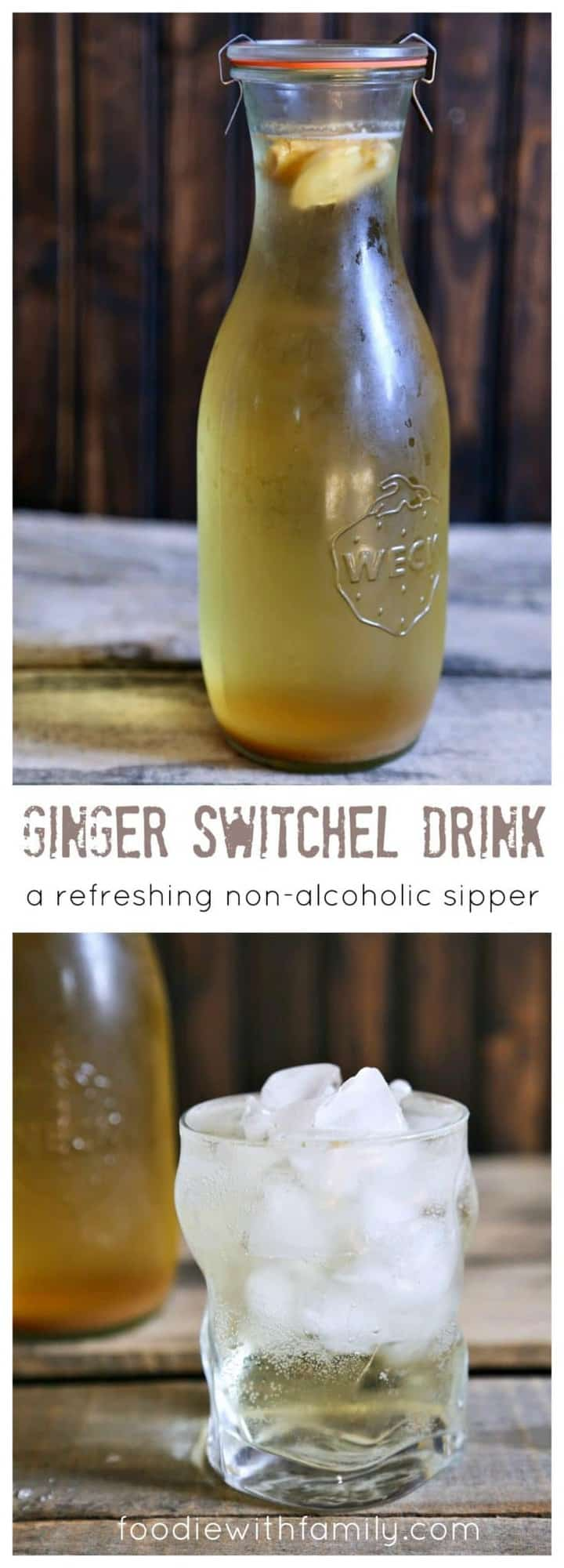 Ginger Switchel Drink made with water, honey, raw apple cider vinegar ...