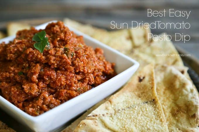 Best Easy Sun Dried Tomato Dip and spread from foodiewithfamily.com