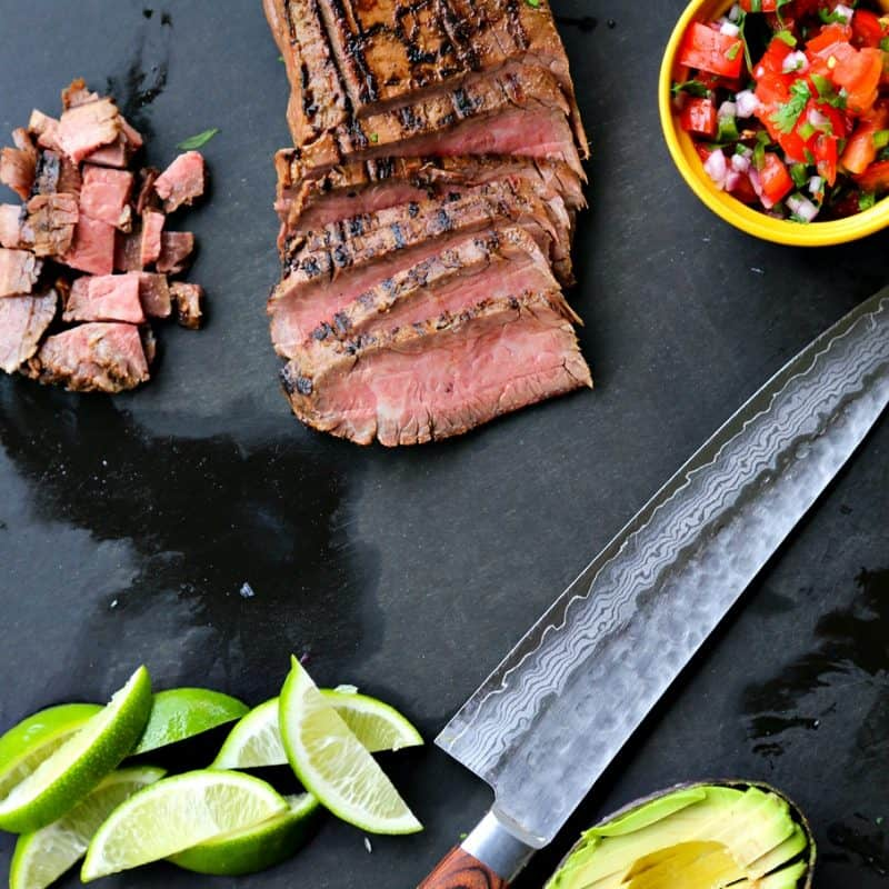 Carne Asada {Grilled Beef for Salads, Tacos, and Burritos}