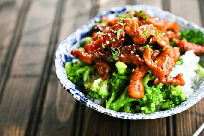 Easy Garlic Ginger Glazed Sticky Pork