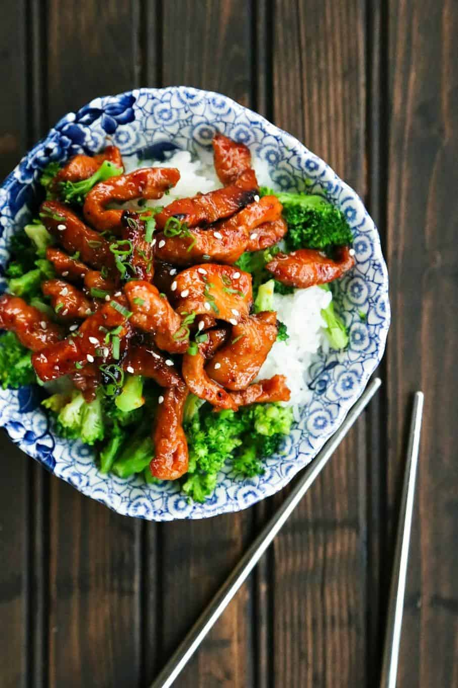 Easy Garlic and Ginger Glazed Sticky Pork {Foodie With Family}
