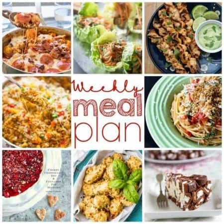 Easy Meal Plan Week of July 27th.