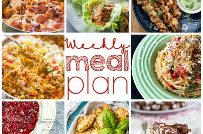 Easy Meal Plan Week of July 27th.