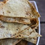 Homemade Garlic Parmesan Pita Chips Recipe from foodiewithfamily.com