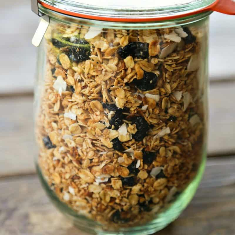 Easy as can be, Slow-Cooker Blueberry Coconut Vanilla Granola doesn't heat up the kitchen.