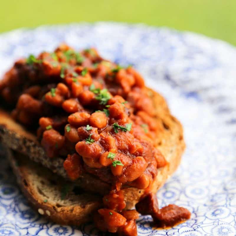 Slow-Cooker Breakfast Baked Beans