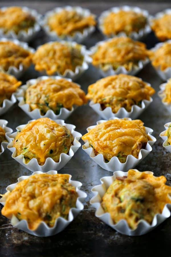 Spicy Bacon Cheddar Zucchini Breakfast Muffins from foodiewithfamily ...
