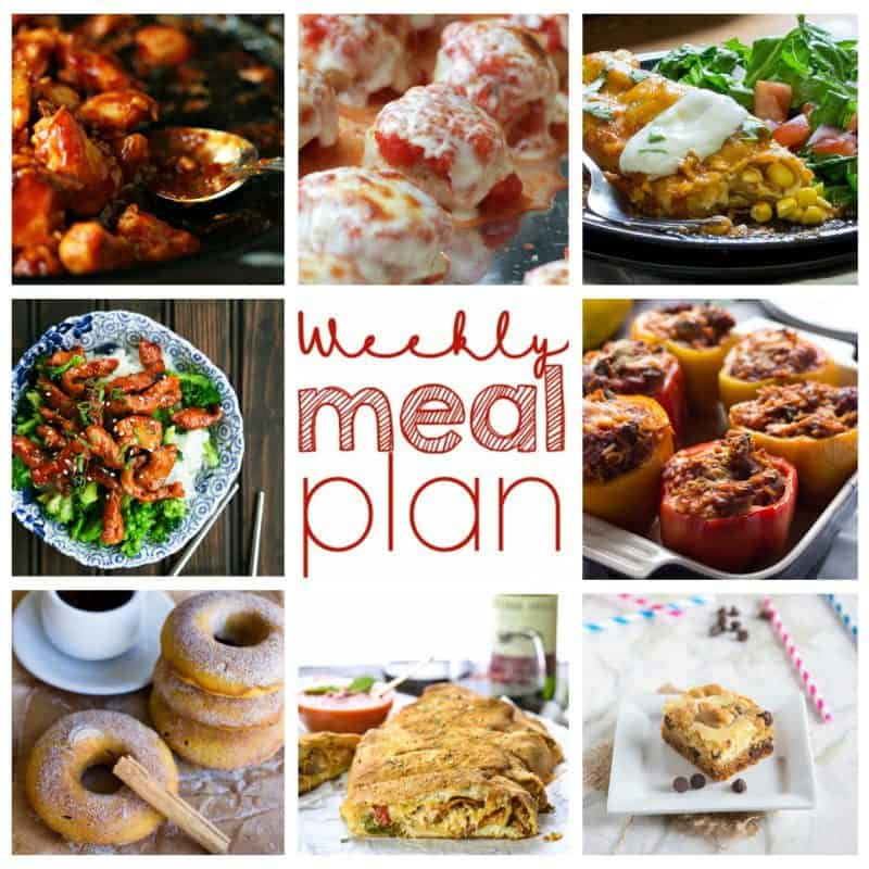 Easy Meal Plan Week 5: 6 main dishes and 2 desserts from 8 top bloggers | foodiewithfamily.com