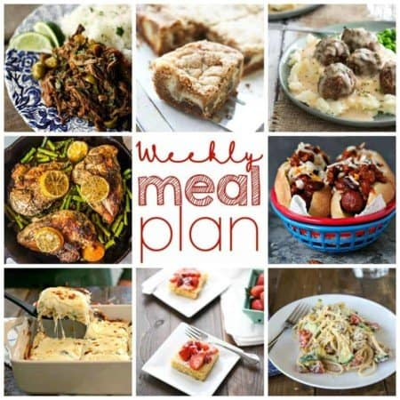 Weekly Menu Plan Week 8 from foodiewithfamily.com