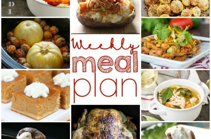 Easy Meal Plan Week of September 14th through the 21st from foodiewithfamily.com.