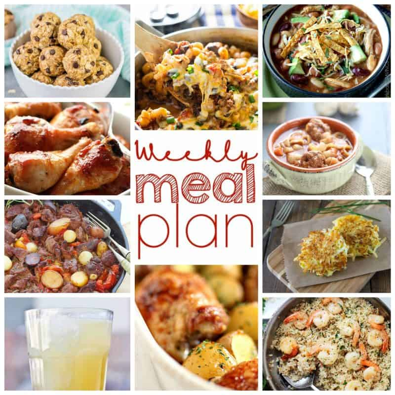Easy Meal Plan WEek of October 12th from foodiewithfamily.com