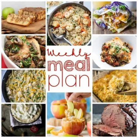 Easy Meal Plan October 19-25 from foodiewithfamily.com