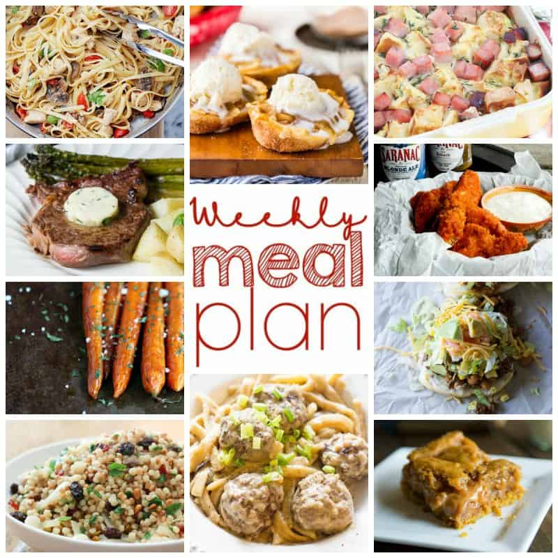 Easy Meal Plan Week 16 from foodiewithfamily.com