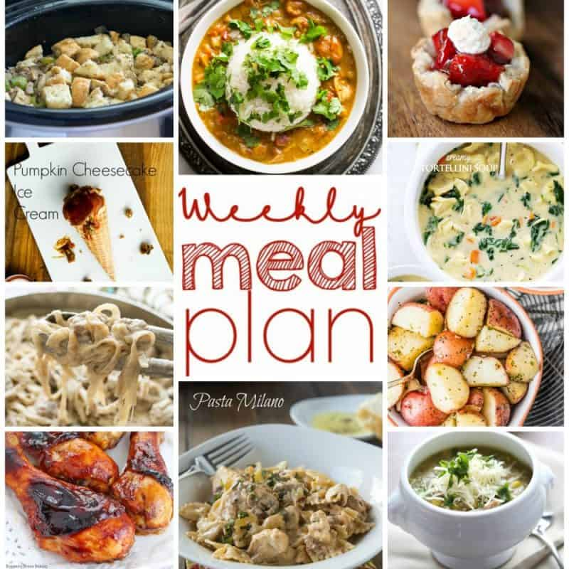 Easy Meal Plan October 26 to November 1st