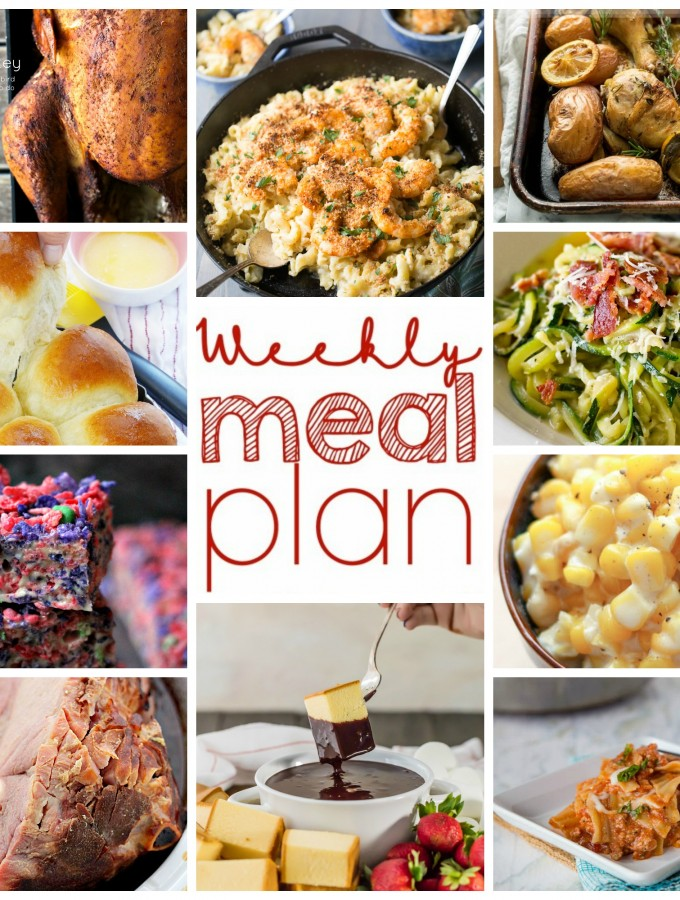 Easy Weekly Meal Plan Week of November 16 from foodiewithfamily.com