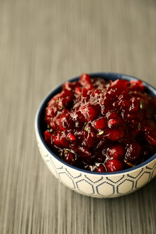 Sweet and Spicy Cranberry Sauce from foodiewithfamily.com