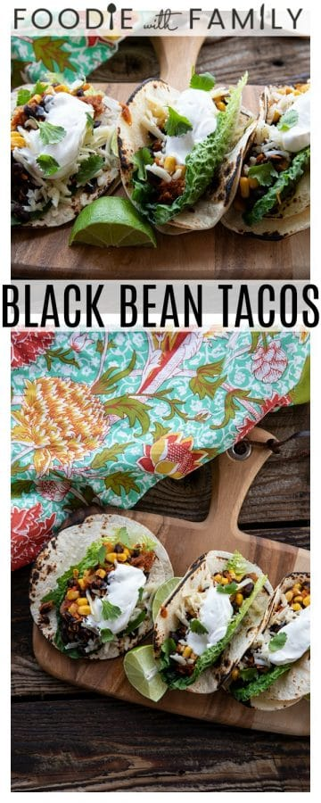 Fast, delicious, fresh, and health and budget friendly, it just doesn't get any better than these Black Bean Tacos. Salsa and chili powder provide massive flavour in this 10 minute meal will fill you up, make you happy, and keep you healthy all at the same time! This is a perfect addition to game day parties and festivities.