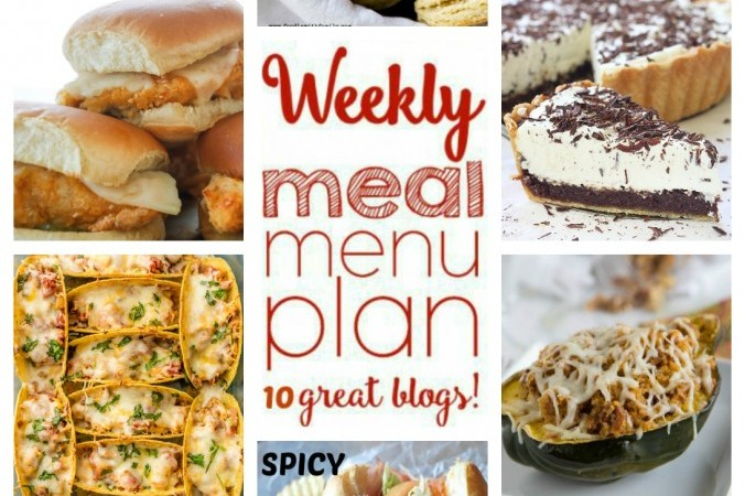 Easy Meal Plan January 3 – 10