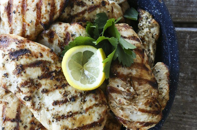 Big Batch Greek Lemon Garlic Chicken