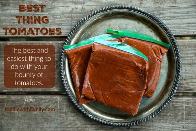 Best Thing Tomatoes. The easiest and best way to preserve tomatoes. From foodiewithfamily.com
