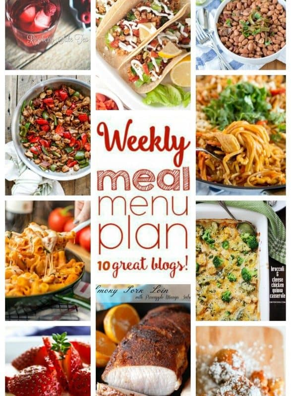 Easy Weekly Meal Plan Week 38 from foodiewithfamily.com and friends