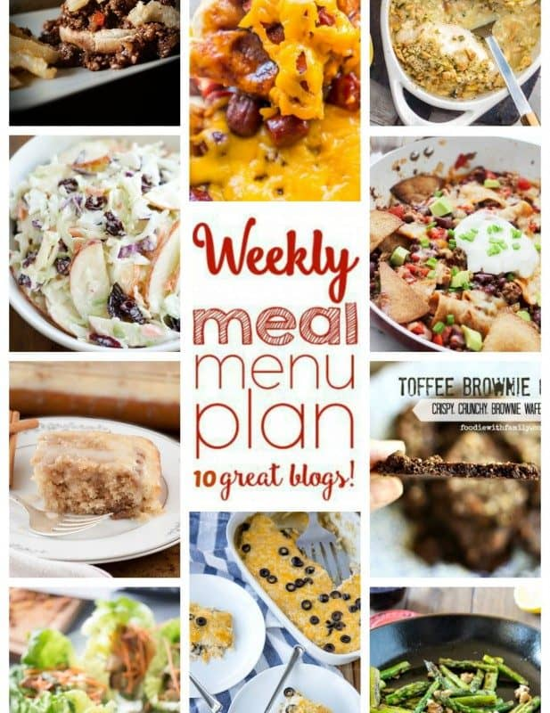 Easy Meal Plan Week 39 from foodiewithfamily and friends.