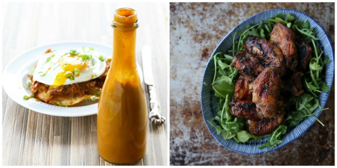 Caribbean Heat Hot Sauce and Sticky Jerk Chicken Wings from Not Your Mama's Canning Book by Rebecca Lindamood aka Foodie with Family