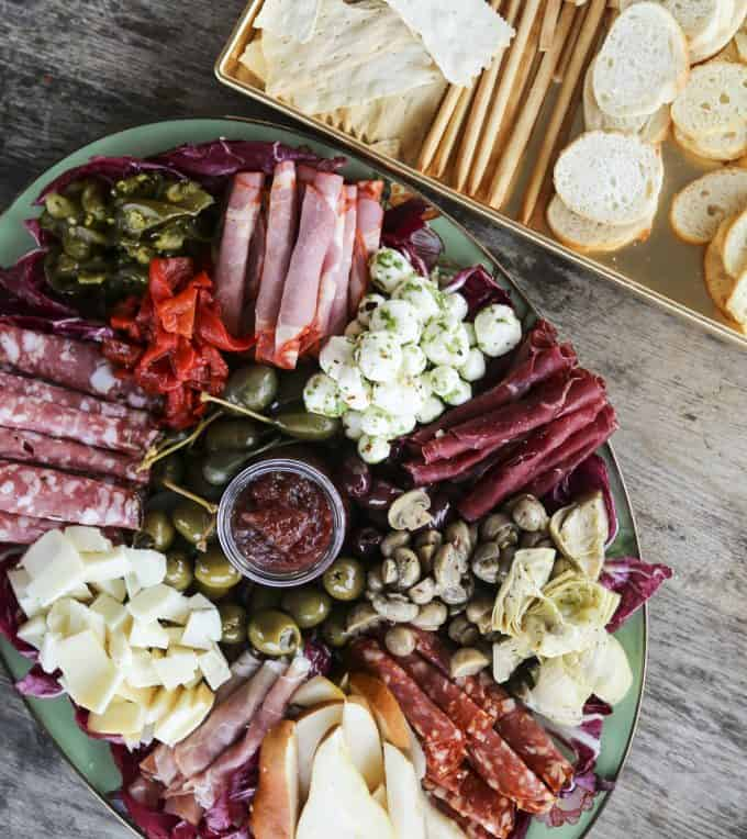 Not Your Mama's Antipasto Tray from not Your Mama's Canning Book by Rebecca Lindamood aka Foodie with Family.com
