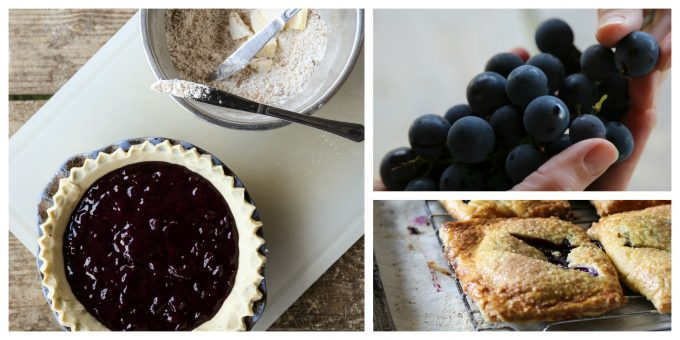 New York Grape Pie Filling and Mini Grape Hand Pies from Not Your Mama's Canning Book by Rebecca Lindamood aka Foodie with Family