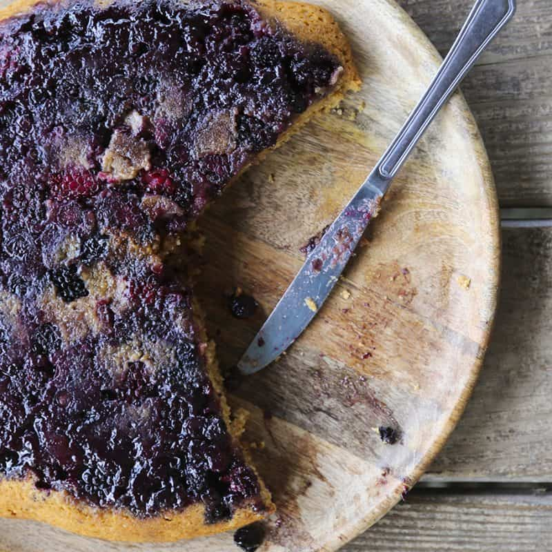 Summer Berry Skillet Cake, easy, gorgeous, delicious...