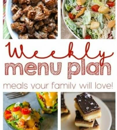 Giveaway + Easy Meal Plan Week 59