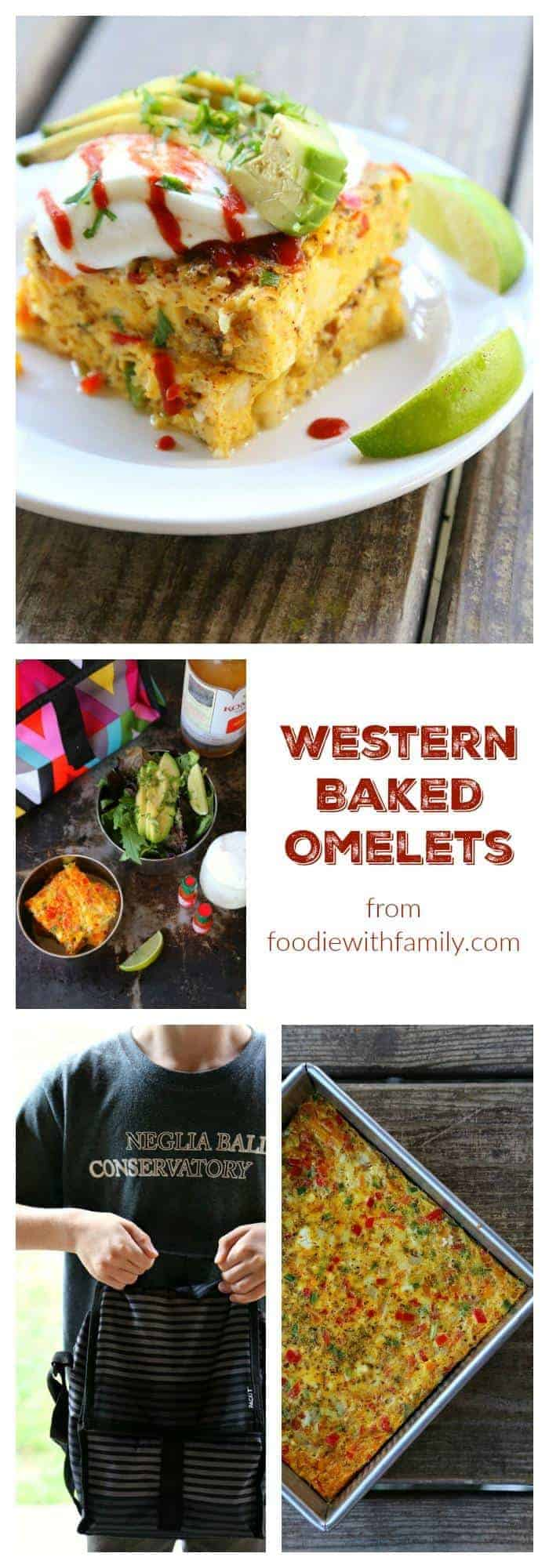 Western Baked Omelet from foodiewithfamily.com #PackItCool #sponsored