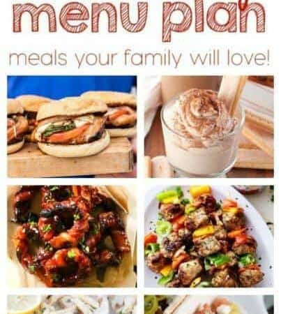 Easy Meal Plan Week 57 August 15 – 21