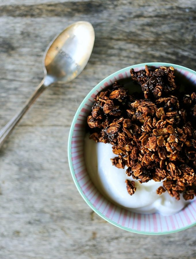 Double Chocolate Granola from Foodie with Family
