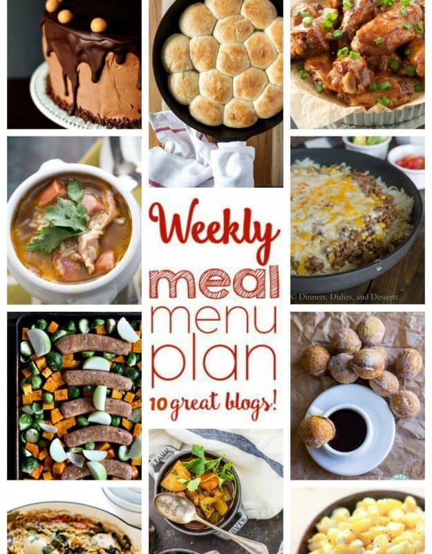 Easy Meal Plan Week 65
