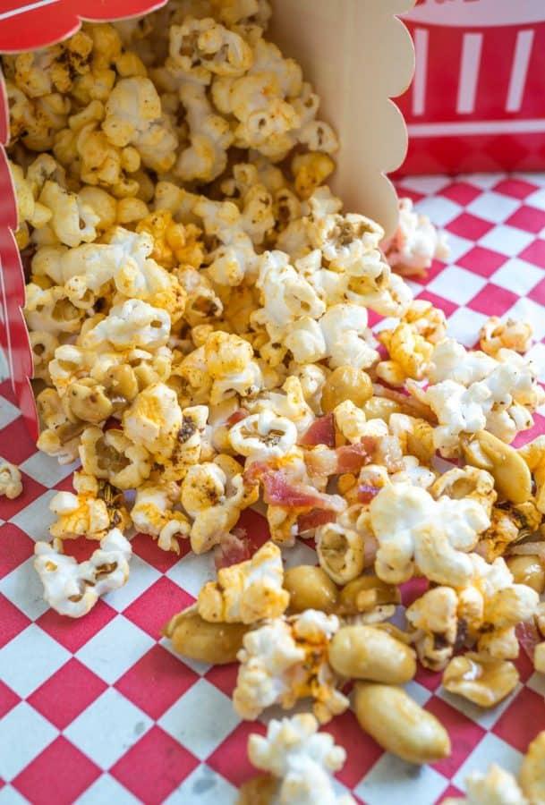 Honey Nut Popcorn with Bacon