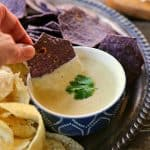 The Ultimate Queso Blanco Dip from foodiewithfamily.com #IAmDeliAmerican #Client