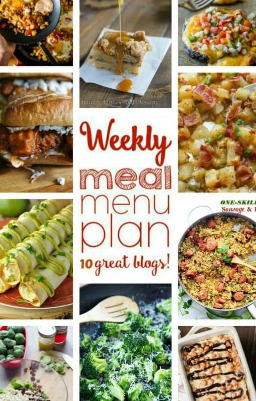 Easy Meal Plan Week 62