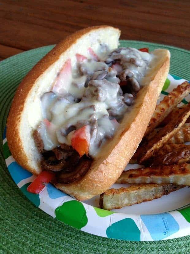 Easy Cheesesteak Sandwiches from Aggie's Kitchen