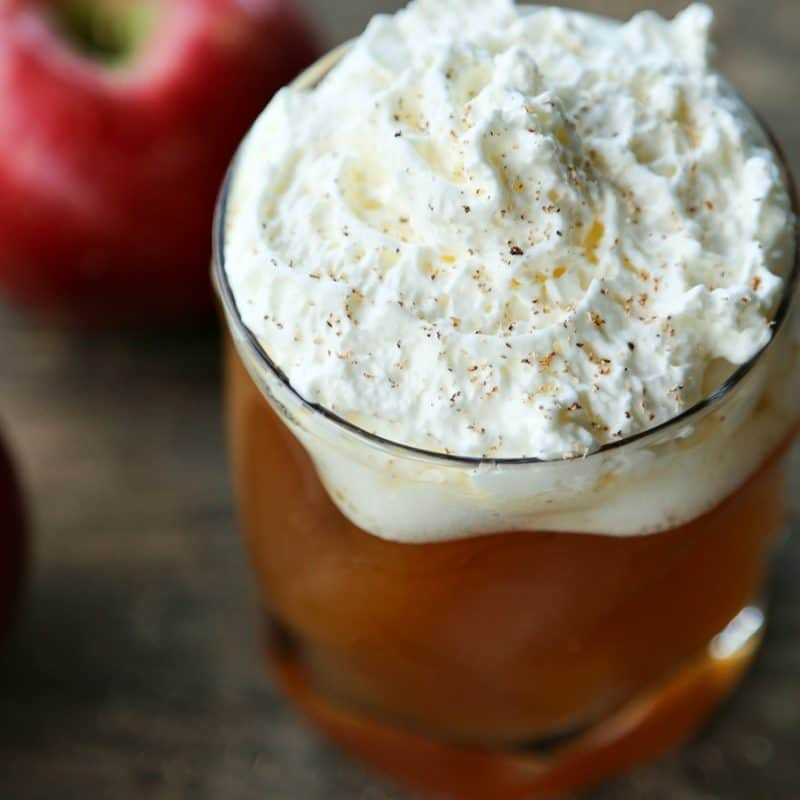 Hot Maple Bourbon Apple Cider from foodiewithfamily.com