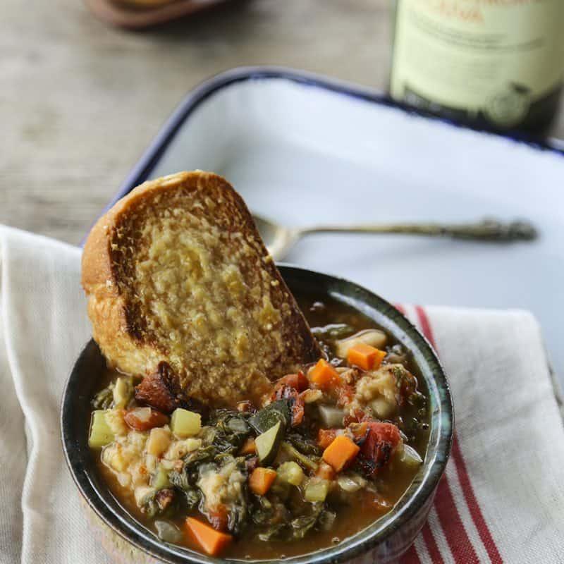 Ribollita Tuscan Vegetable Bean Soup foodiewithfamily.com