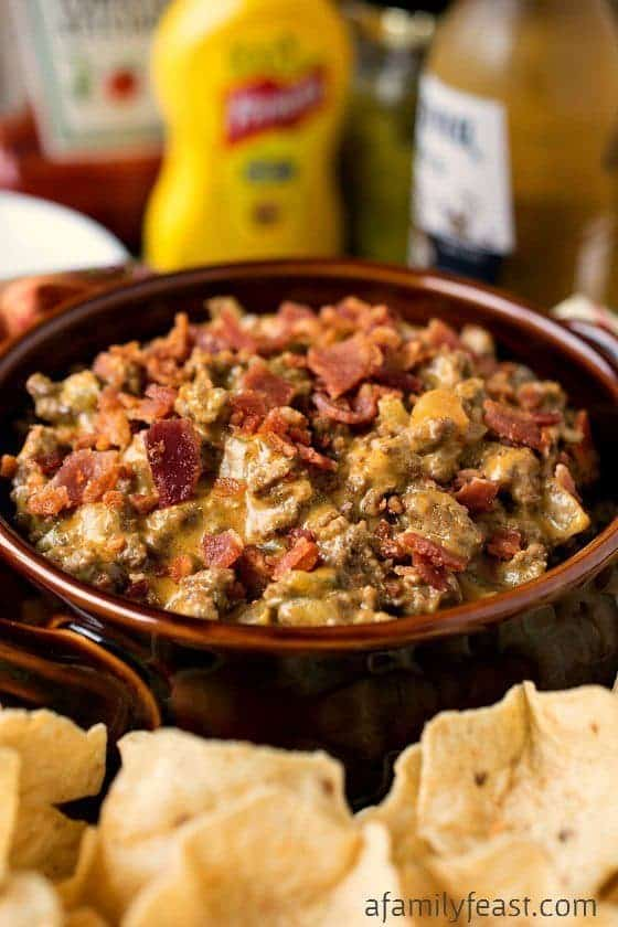 Bacon Cheeseburger Dip from A Family Feast