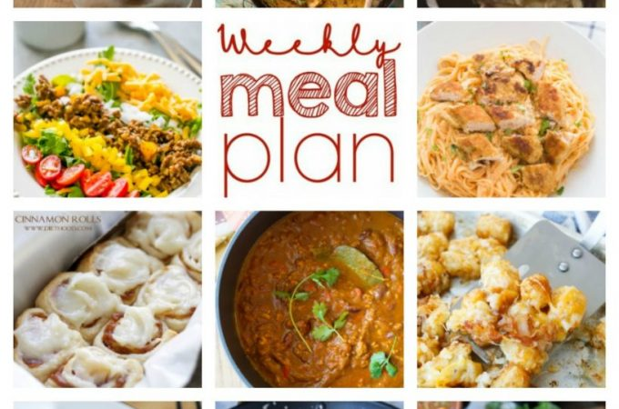Easy Meal Plan Week 69