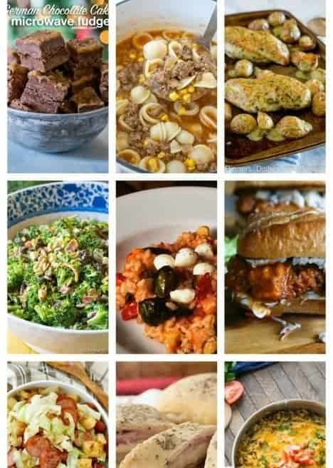 Easy Meal Plan Week 77 from foodiewithfamily and friends. 11 great bloggers bringing you a week of main dishes, side dishes, and desserts.