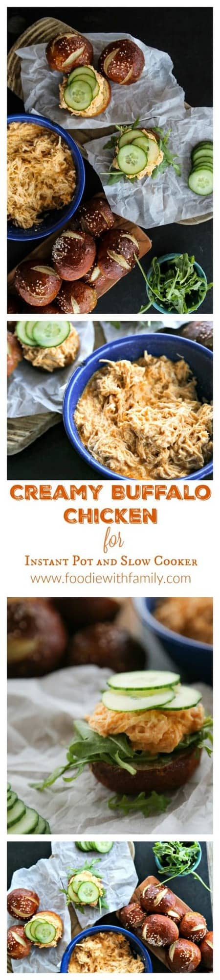 Three ingredients are all it takes to make the most incredibly flavourful Creamy Buffalo Chicken for Instant Pot or Slow Cooker.