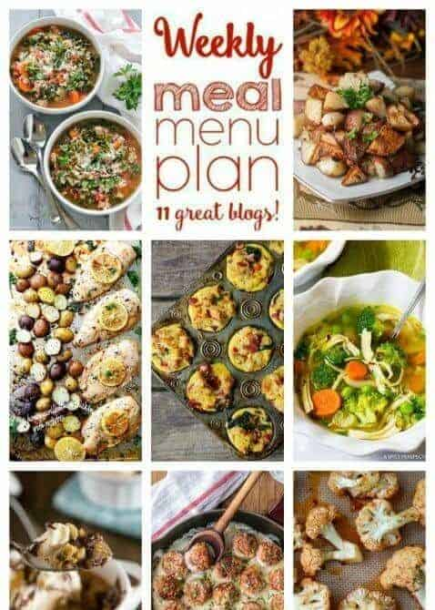 Easy Meal Plan Week 78: 11 top food bloggers bringing you a week's worth of dinners, side dishes, and desserts from foodiewithfamily and friends.