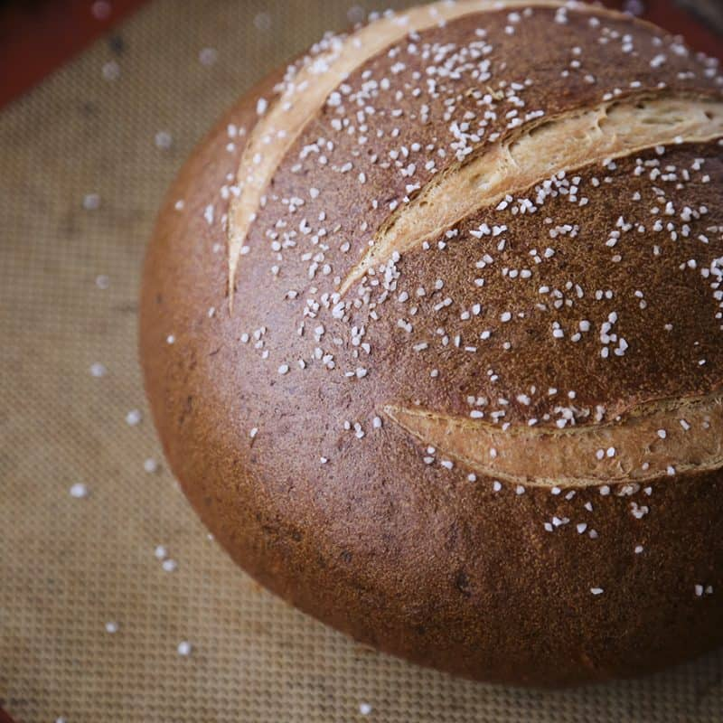 Soft Pretzel Bread and a video tutorial for shaping the round from foodiewithfamily.com