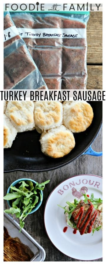 Flavourful and delicious, simple to make, nutritious, and gentle to your wallet, Turkey Breakfast Sausage makes breakfast easy and tasty!
